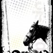 Horse poster background - Stock Vector