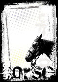 Horse poster background — Stock Vector