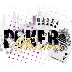 Fondo de póquer — Vector de stock