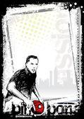 Ping pong poster background 3 — Vector de stock