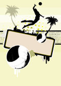 Beach volleyball background — Stock Vector