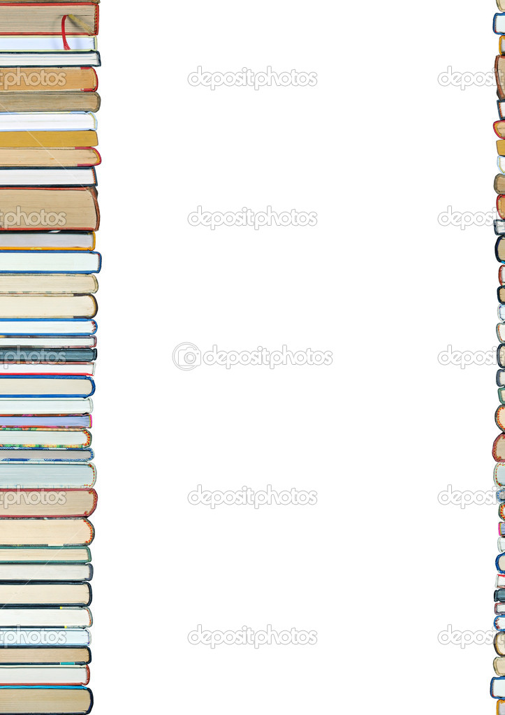 A pile of books isolated on white background — Foto Stock #2841592