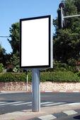 White blank Street Sign — Stock Photo