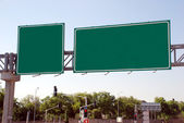 Blank green high way Sign — Stock Photo
