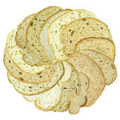 Slices of bread as a flower head — Stock Photo