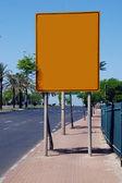 Yellow blank Street Sign — Stock Photo