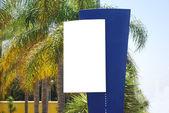 White blank Sign — Stock Photo