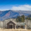 An abandoned mining cabin in Colorado. - Stock Photo