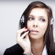 Business woman with headset — Stock Photo #2937043