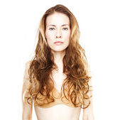 Long haired young woman — Stock Photo