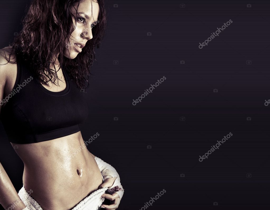 Toned female fitness body .  — Stock Photo #2979984