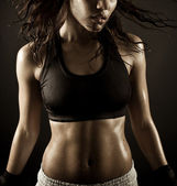 Sexy female boxer — Foto Stock
