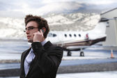 Businessman in the airport — Stock Photo