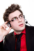 Male telemarketer — Stock Photo