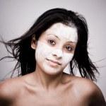 Facial massage. — Stock Photo
