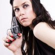 Royalty-Free Stock Photo: Gun At Womans Head