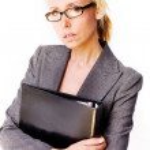 Business blonde woman — Stock Photo