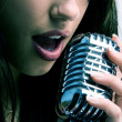 Pop singer - Stock Photo