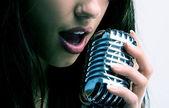 Pop singer — Stock Photo