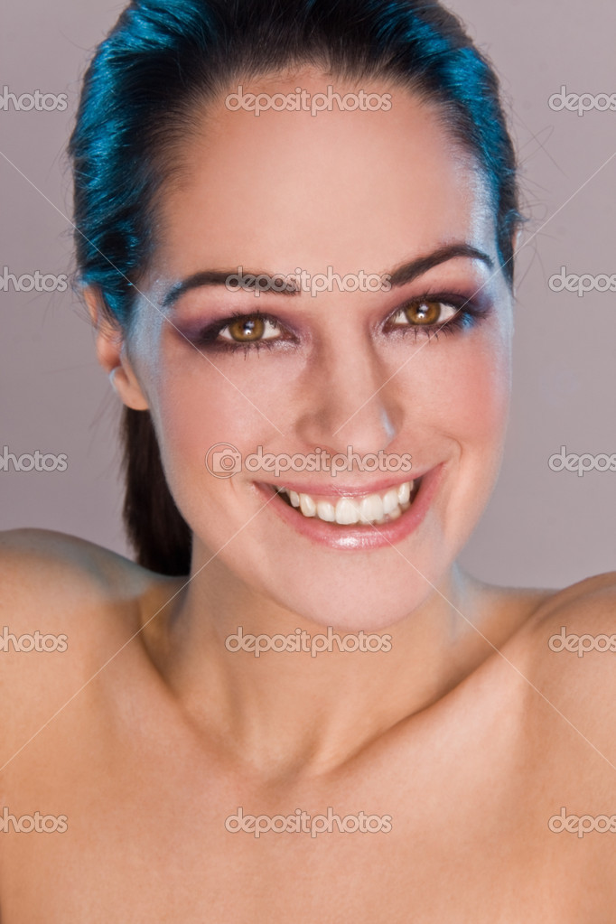 Beautiful Smiling Woman isolated on grey background — Stock Photo #3021019