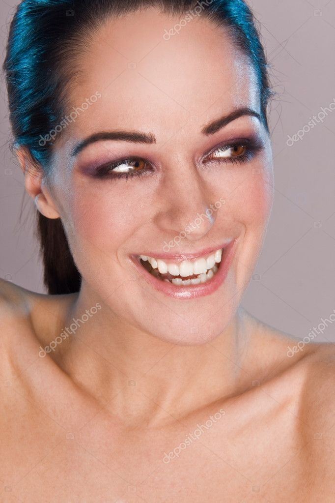 Beautiful Smiling Woman isolated on grey background — Stock Photo #3021052