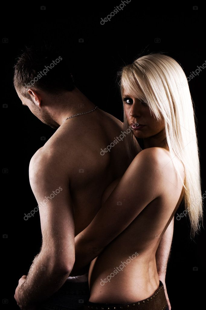 Sexy blonde girl with handsome guy   Stock Photo #3021776