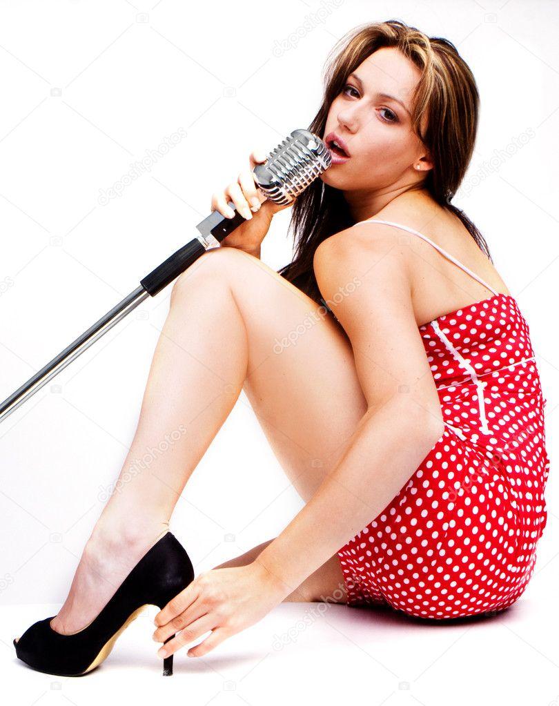image Naked girls sing in the karaoke bath
