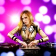 beautiful dj girl — Stock Photo
