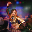 Stock Photo: beautiful dj girl