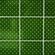 Background of a  green tiles - Stock Photo