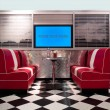Retro style interior - Stock Photo