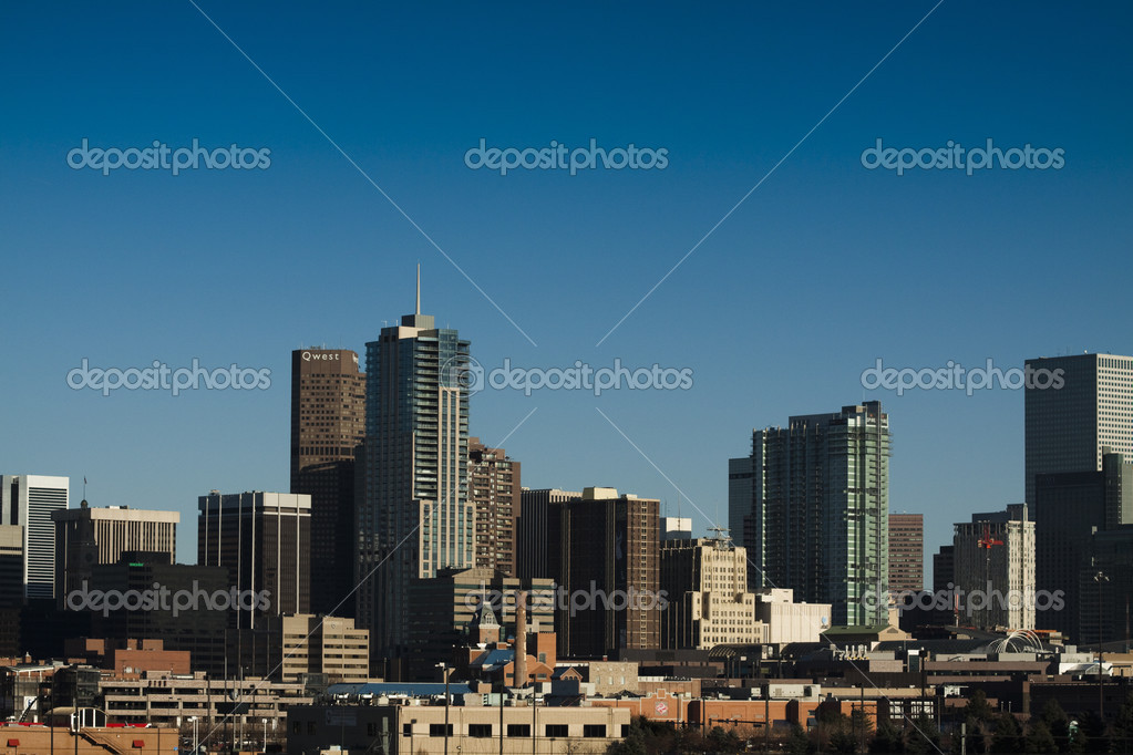 Skyscrapers in Denver, Colorado.skyline — Foto Stock #3173410