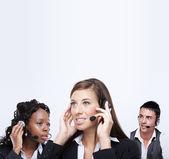 Customer service representatives — Stock Photo