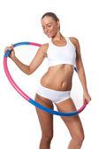 Hula Hoop Exercises — Stock Photo
