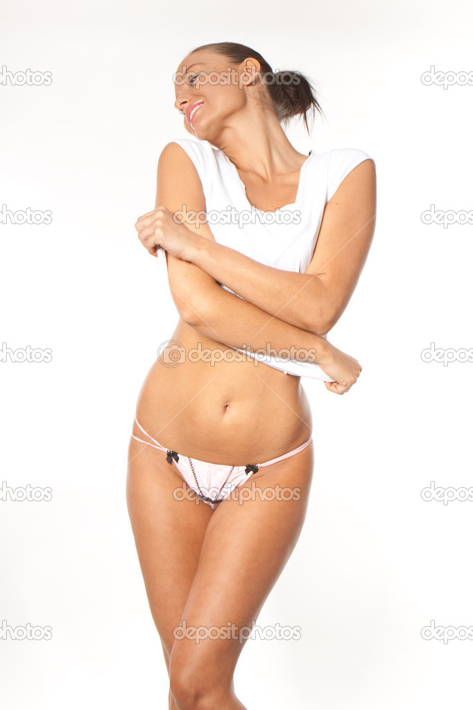 Sexy lady taking off her clothes — Stock Photo #3800973