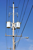 Electrical pole — Stock Photo