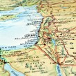 Stock Photo: Middle East map.