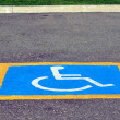 Handicapped reserved parking - Stock Photo