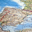 Spain and Portugal map. - Stock Photo