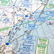 Stock Photo: Air navigation chart