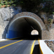 Stock Photo: Mountain tunnel