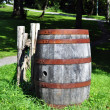 Old rusty barrel — Stock Photo