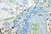 Air navigation chart — Stock Photo