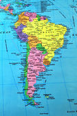 South America map — Stock Photo