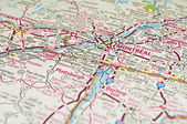 Montreal map, Quebec. — Stock Photo