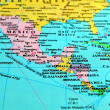 Central America map. - Stock Photo