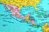 Central America map. — Stock Photo