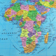 Africa map - Stock Photo