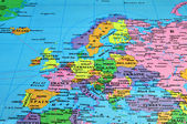 Mapa evropa — Stock fotografie