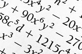 Algebra formulas close up. — Stock Photo